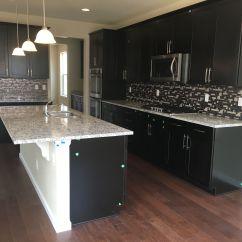 Espresso And White Kitchen Cabinets Cheap Unfinished Timberlake Sonoma Ashen Granite