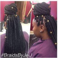 Long Medium Box Braids w/ Hair Jewelry   Box braids ...