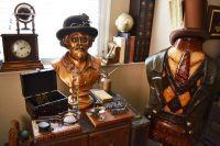 A steampunks living room. Steampunk home decor | A ...