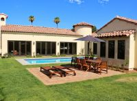 spanish style swimming pool, spanish colonial house, 4 ...