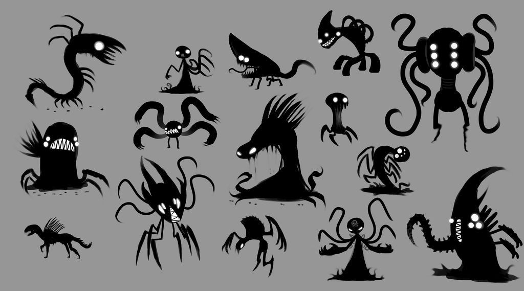 Concept: Dark Shadow Monster Things by DaSaurian on
