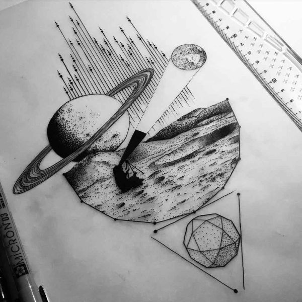 Space Tattoo Sketches and Drawings