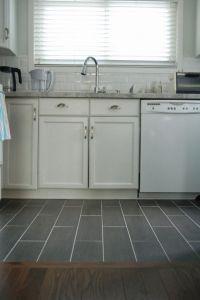 Wood floor to tile transition | kitchen remodel ...