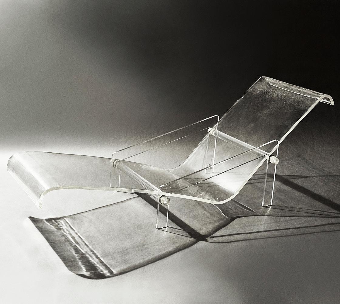 plastic beach chaise lounge chairs throne chair rental nyc gabriella crespi lucite longue 1970s chaired