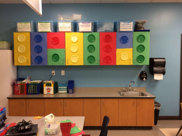 Lego Classroom Theme-cabinet Coverings