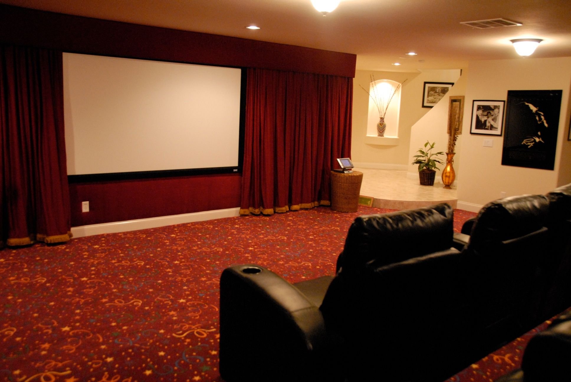Movie Rooms With Curtains Decorations Sophisticated Home Movie