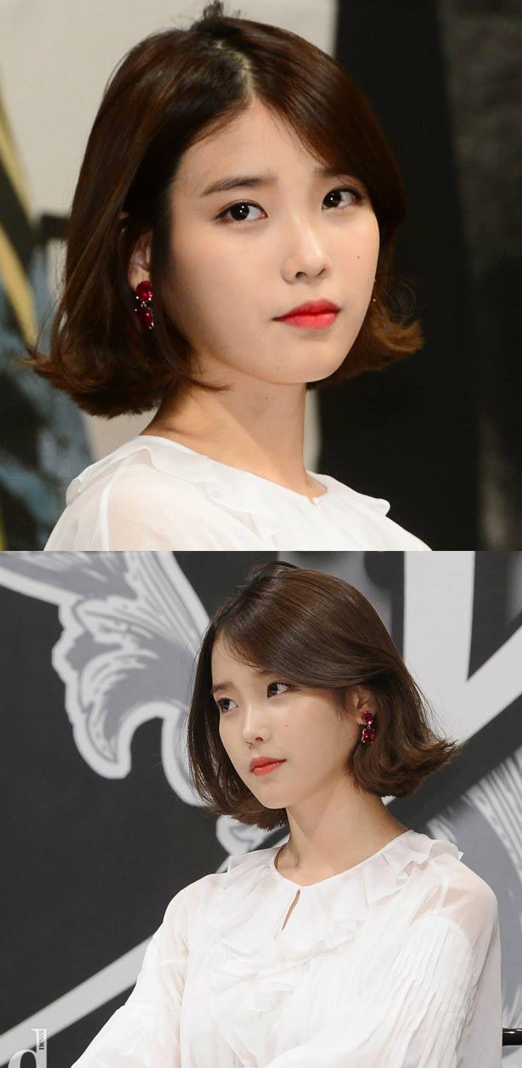IU #Kpop #bobbed Hair Beauty Pinterest Bobs Bob Hairs And Kpop