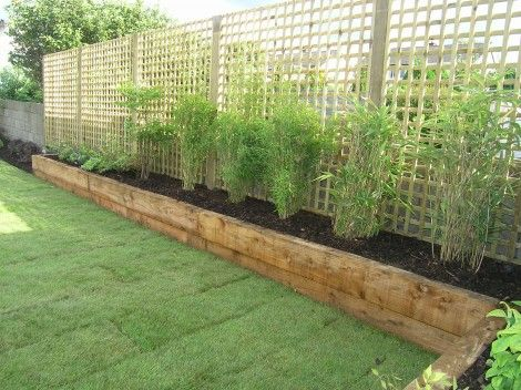Simple Perimeter Raised Planters With Pine Sleepers Raised