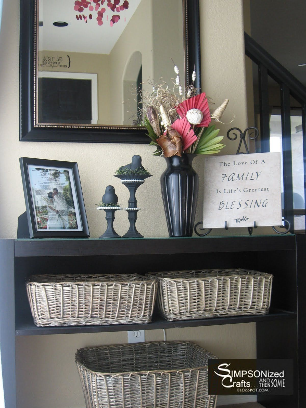 Perfect! Baskets To Toss Mail Magazines Etc Large Basket For