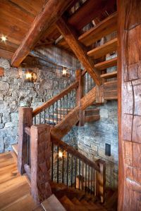 Canadian Log Homes, Rustic Design Ideas...great stone ...