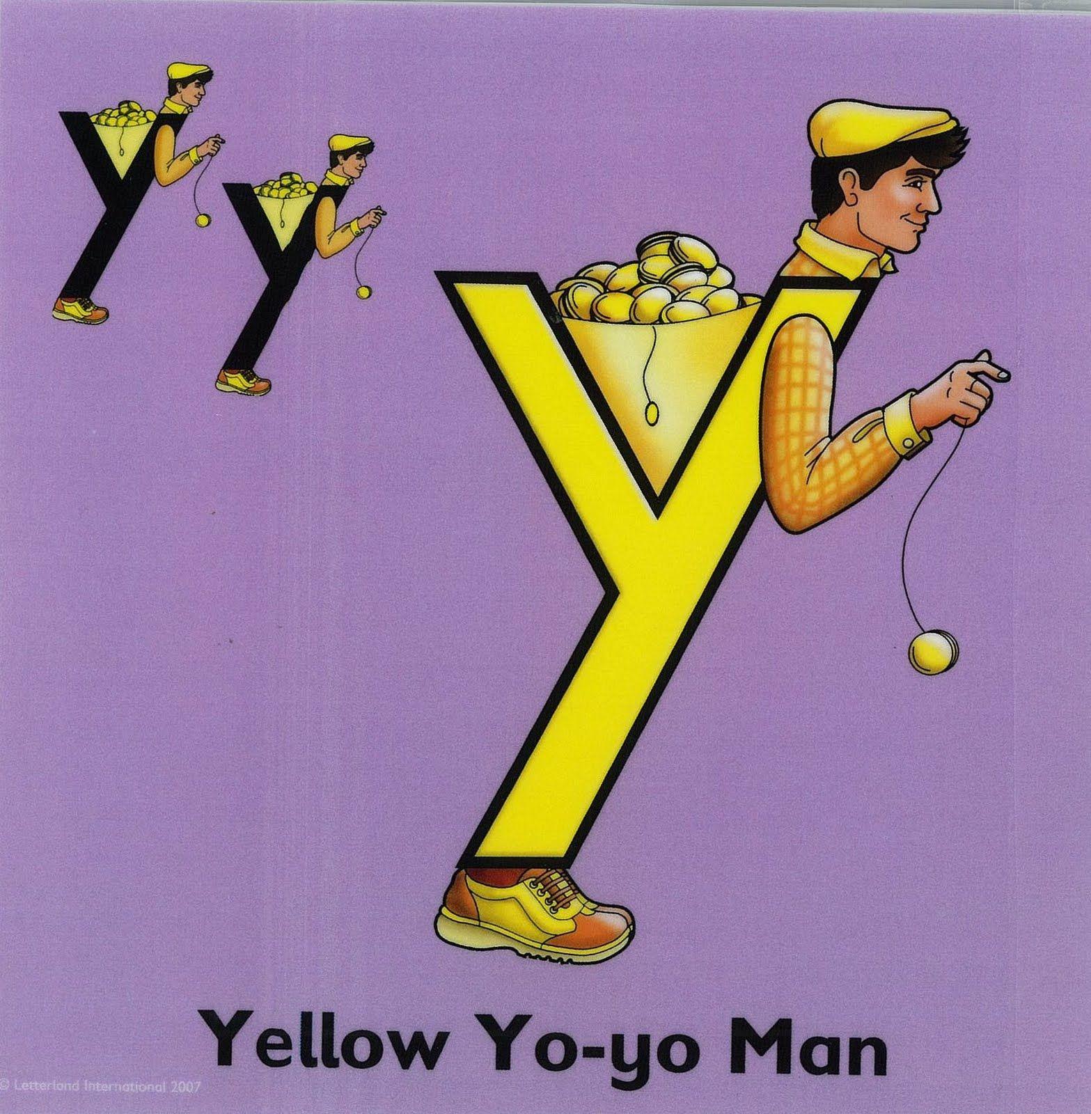 The Letter Y Yellow Yo Yo Man