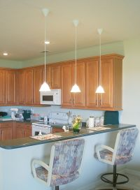 hang lights over kitchen counter