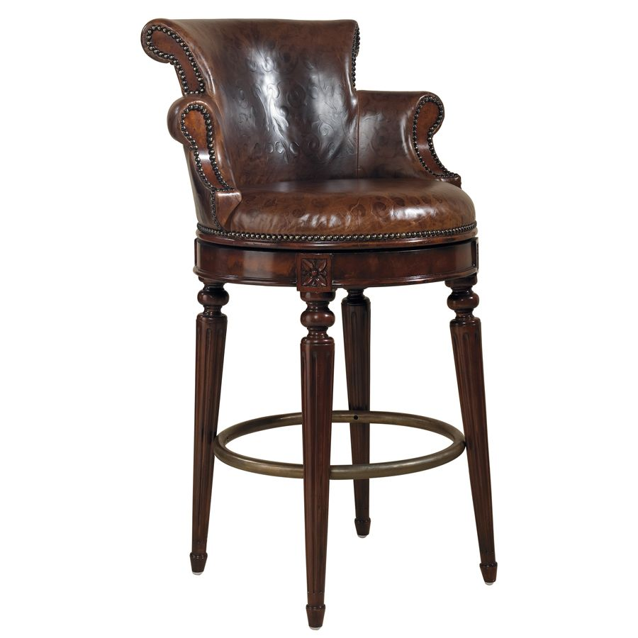 FurnitureThe Best Beautiful Leather Swivel Bar Stool With