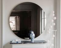 Black wall mirror. Round, MidCentury inspired handmade ...