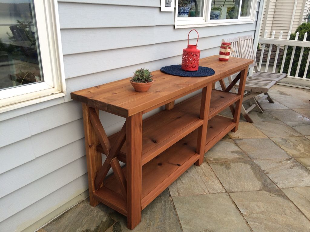 diy outdoor sofa table cheap 2 seater sofas fabric buffet server built from cedar using ana white 39s