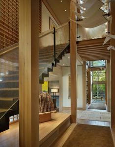 Two story lakefront property in seattle engawa house also usa rh pinterest