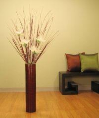 living room : Brown Reddish Plywood Tube Living Room Vase ...