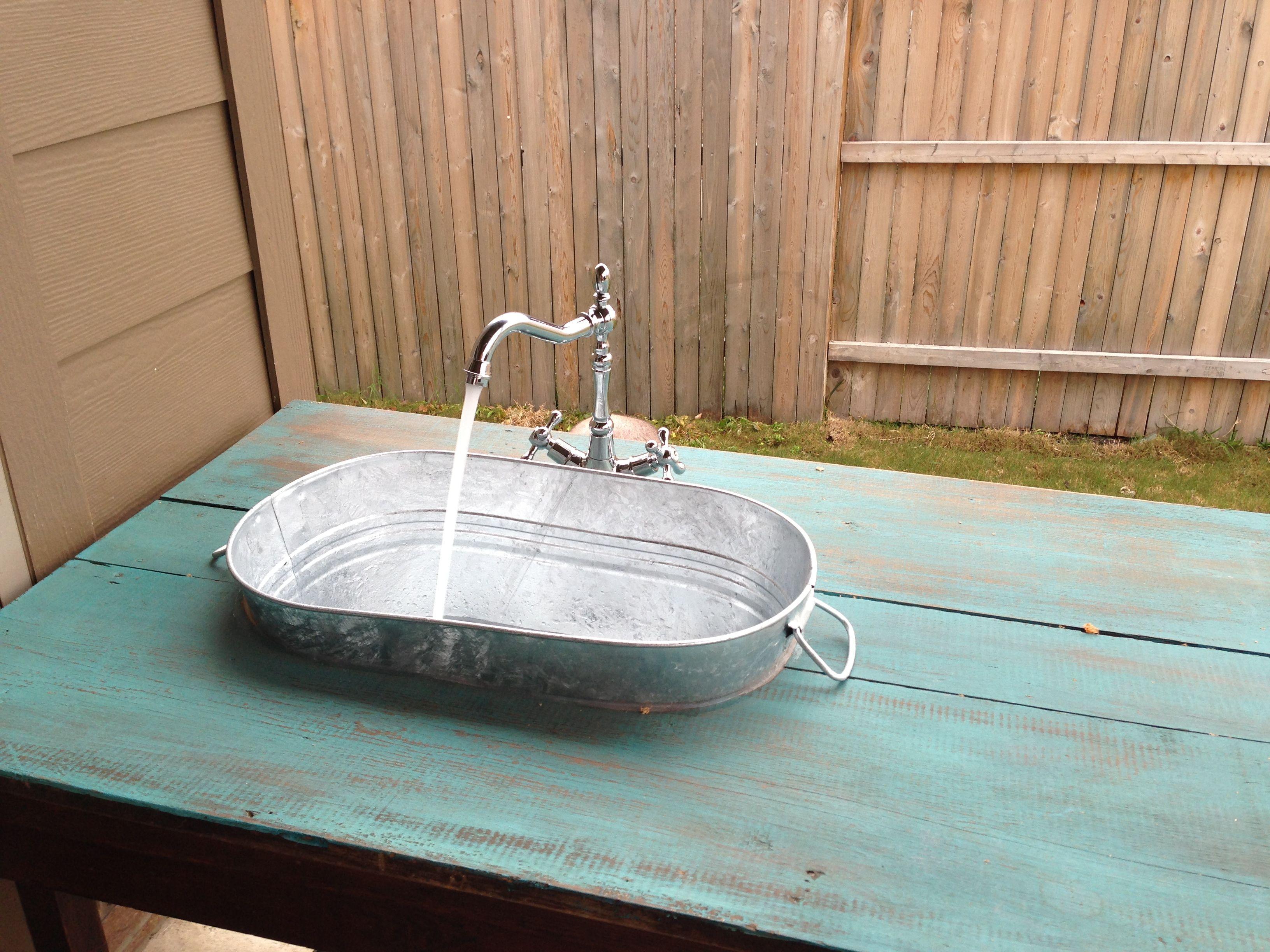 DIY outdoor sink  Craftiness  Pinterest  Outdoor sinks