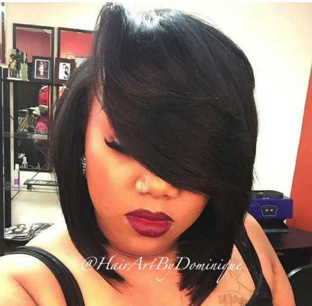 This Is One Of The Sexiest Bobs Ever! The Deep Side Part Makes It