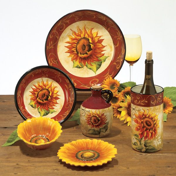 tuscan kitchen canisters best sink faucets this will be my new dinnerware sunflower ...