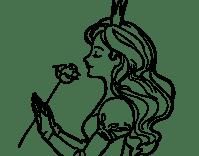Dibujo de Princesa y rosa para colorear | Dibujos de ...