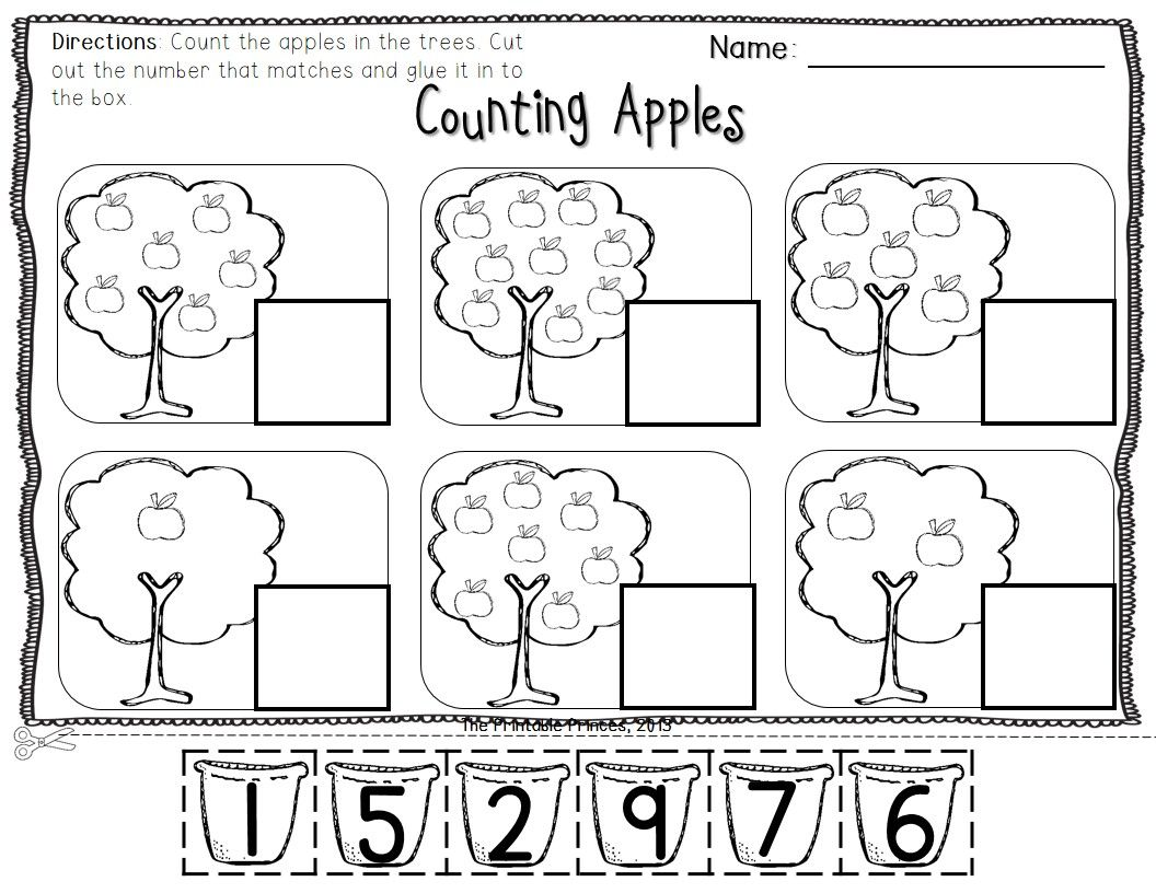 Apple Centers For Kindergarten Fall Theme