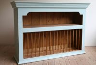 A plate rack and shelving unit for mounting on the wall ...