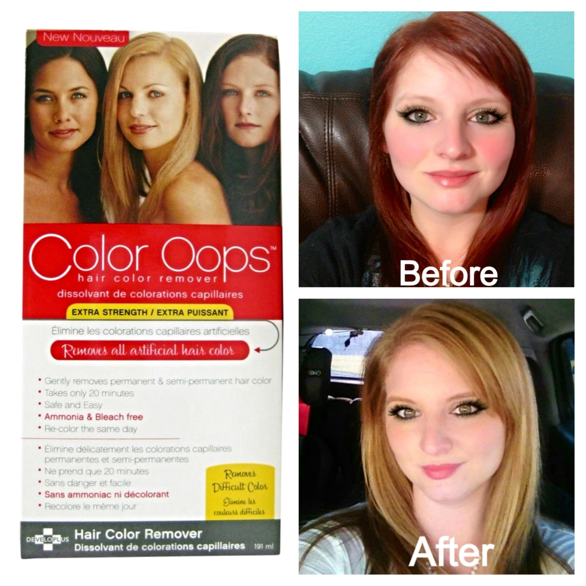 Color Oops is a safe way to remove permanent and semi