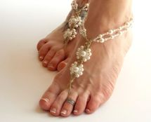 Beaded Barefoot Sandals Wedding