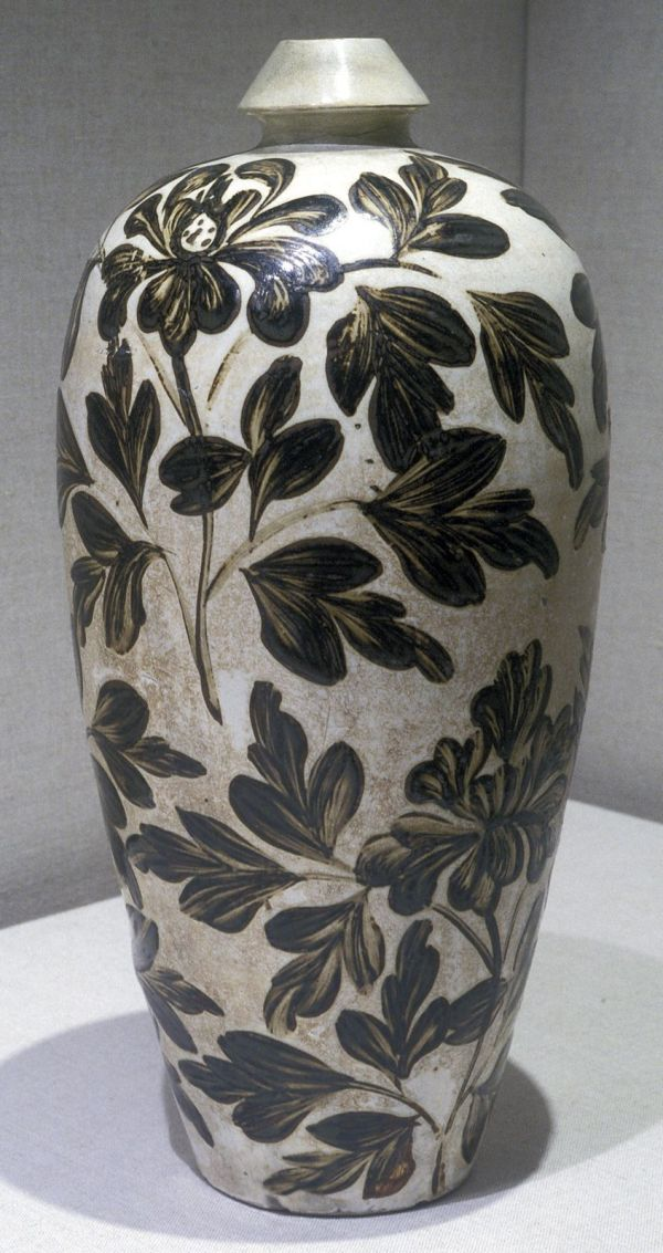 """Chinese Jin Dynasty """"vase With Painted Peony Design"""