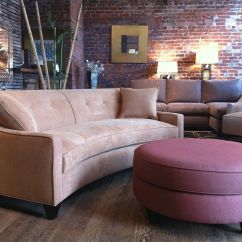 Unusual Shaped Sofas Uk Moroccan 2017 Sofa 101 Curved Vs Straight Round Ottoman And Ottomans