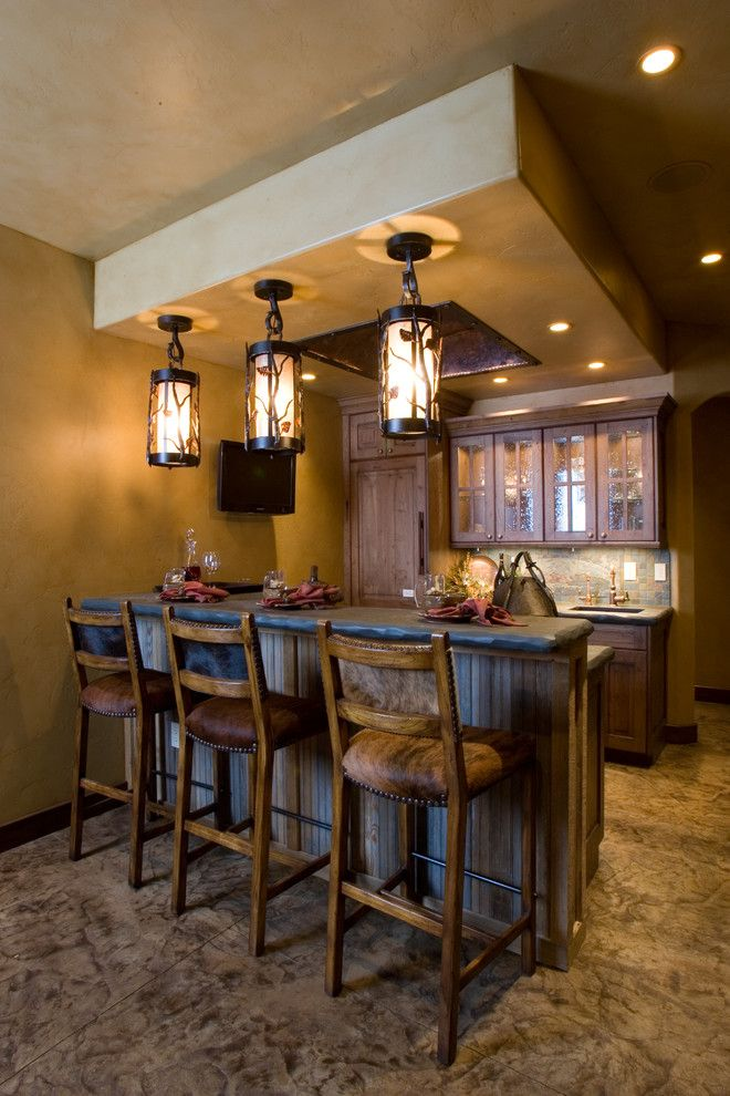 Rustic Style Home  Unique Lighting decor ideas images in Home Bar Rustic design ideas  Dream