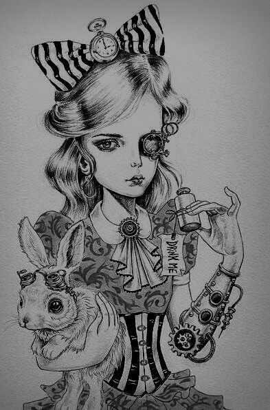 Pin by Misty Ellis on Art Pinterest Alice Tattoo and