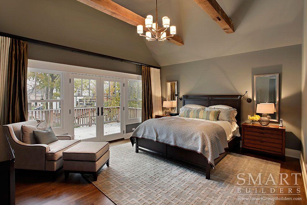 Contemporary Craftsman Style Custom Home  Master Bedroom