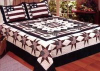 Great America 3 PC King Size Quilt Bedspread Set-flag USA ...