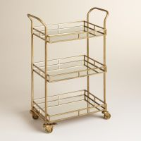 Gold Cole 3-Tier Rolling Bar Cart | Bar carts, Antique ...