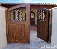 Spanish Style Wooden Gates | Dynamic Garage Door ...