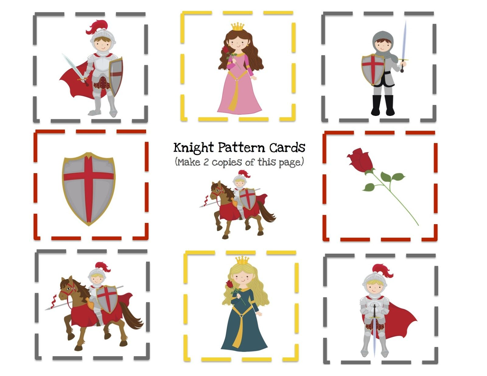 Knight 8 Pattern Cards Template 1 600 1 236 Pixels