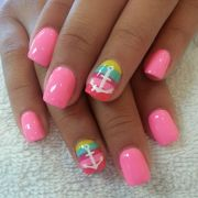 cute anchor nail design summer