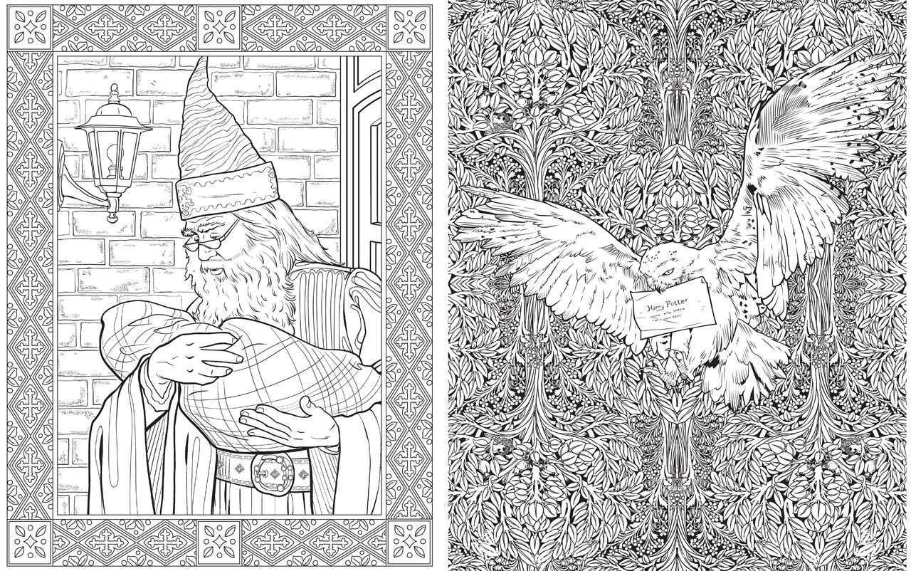 The Harry Potter Colouring Book Is Simply Magical Who Wouldn