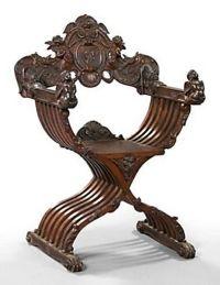 An X-chair (also scissors chair, Dante chair, or ...