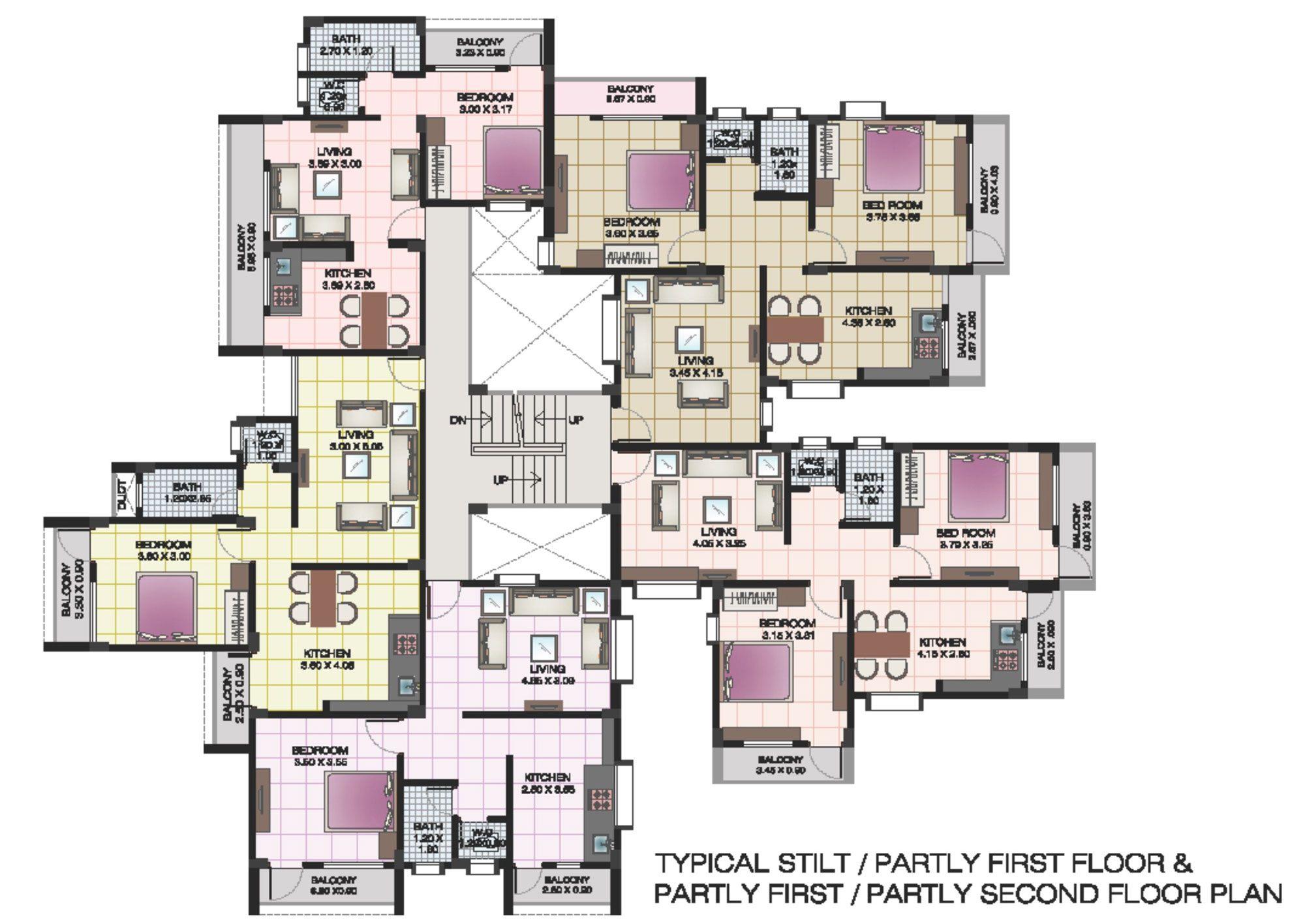 apartment structures  Apartment floor plans of shri