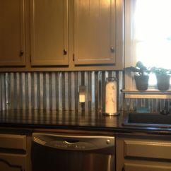 Metal Kitchen Backsplash Diy Design Corrugated Dream Home Pinterest
