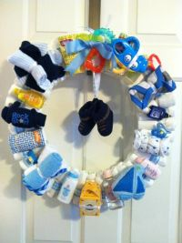 Baby Boy Diaper Wreath...About Time I See A Cute Baby Boy ...