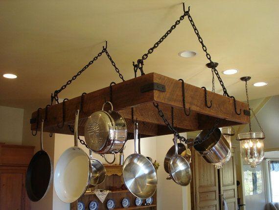Custom Built Pot Pan Storage Racks Out Of Reclaim Barn Wood From