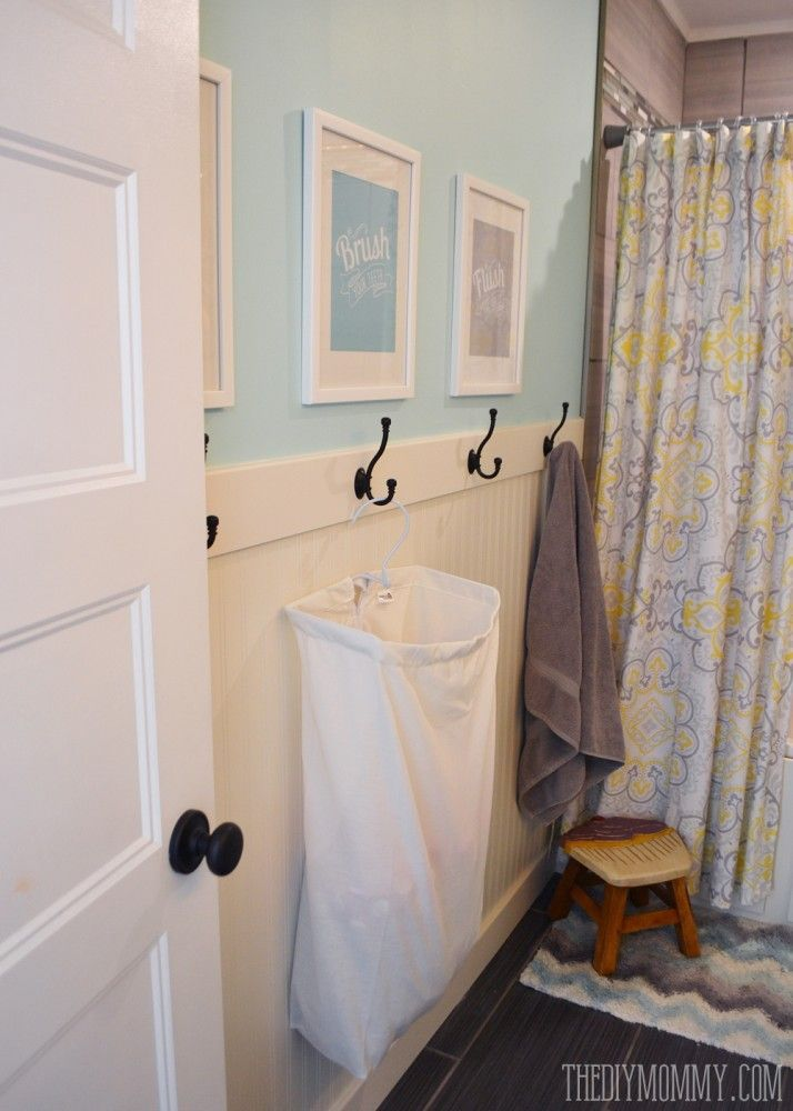 How to install an easy diy beadboard hook wall in  bathroom it   pretty and also rh pinterest