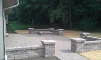 block+walls+around+patios | Grading Landscaping Paver ...