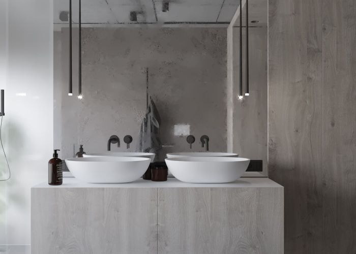 Grey apartment also  pinterest apartments bathroom taps and