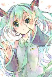 anime. anime girl. hatsune miku