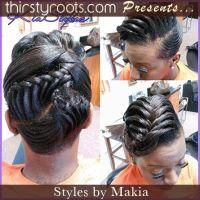 fishtail braid hairstyles for black hair   Fishtail updo ...